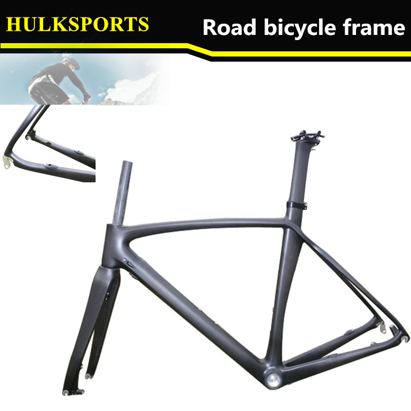 road disc brake top quality carbon road bike framefull carbon frame weave carbon
