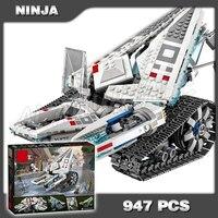 947pcs New Ninja Ice Tank Battle Machine Mech Walker 10726 Model Building Blocks Teenagers Toys Bricks Compatible With lego