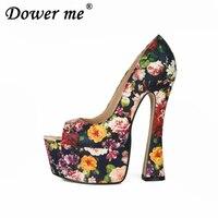Fashion Stilettos17cm Wine Glass Heel High Heeled sexy Patent Leather SM pumps women platform wedding shoes false mother big 46
