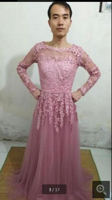 0c22c13f48e 2017 Saudi Arabia modest pink lace tulle evening dresses 3 4 sleeve  appliques modest muslim women evening gowns hot sale