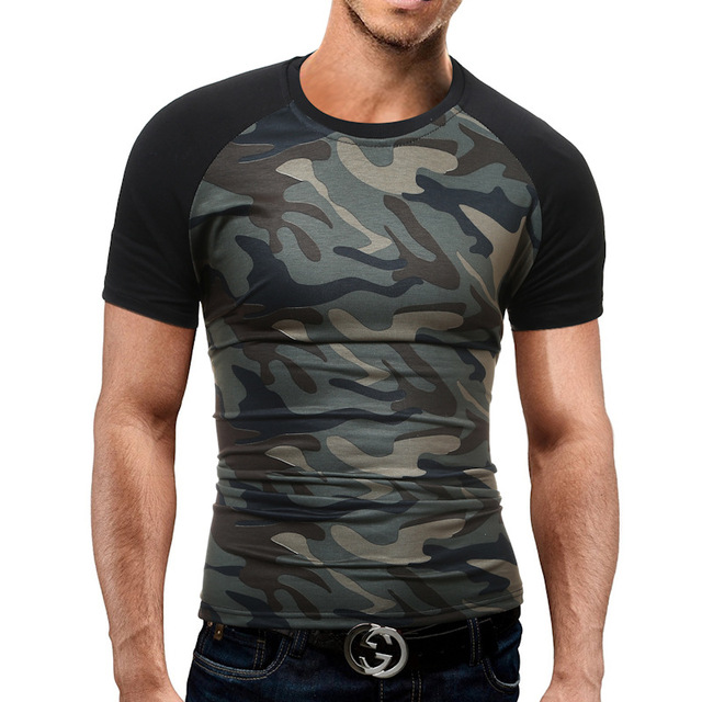 3fce3ee9 Men's T-shirts Summer Fitness Compression Tee Shirt Army Tactical Military  Style Short Sleeve Camouflage Quick-dry T-shirt Tops