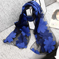 2017 Spring and autumn winter  lady Imitation silk scarf female fashion do embroidery lace scarf joker Imitation silk scarf