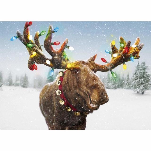 3d diamond embroideryfulldiydiamond paintingmerry christmas moosecross - Christmas Moose
