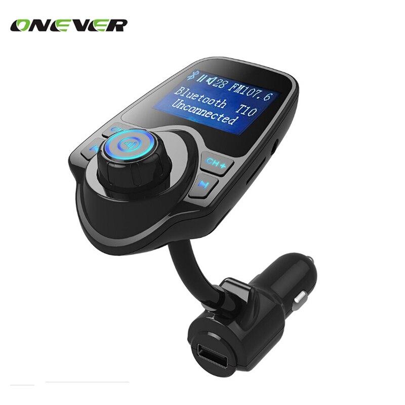 Prix pour Bluetooth de voiture kit lecteur mp3 appel mains libres sans fil transmetteur fm chargeur de voiture support micro tf carte pour iphone pour samsung