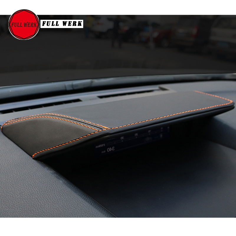 1 Pc Leather Car Dashboard Cover Anti Scratch Sunshade Pad For Subaru XV Impreza 2018 Forester 19 Dashboard Panel Cap Accessory