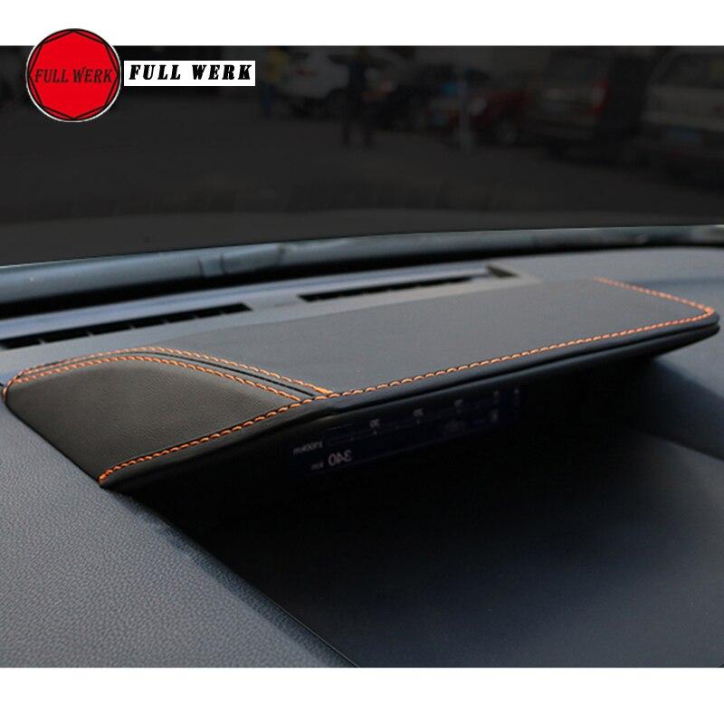 1 Pc Leather Car Dashboard Cover Anti Scratch Sunshade Pad For Subaru XV Impreza 2018 Forester 19 Dashboard Panel Cap Accessory