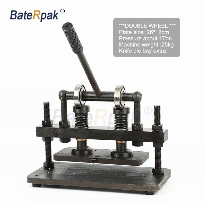 Découpeuse en cuir de main de Double roue de 26x12 cm, papier photo de BateRpak, coupeur de moule de feuille de PVC/EVA, machine de découpage en cuir