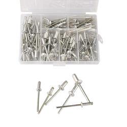 120 шт./компл. коробка M3.2 * 7/9/11 лет M4 * 8/10/13 GB12618 алюминиевые слепые заклепки для художественного оформления ногтей, заклепок Pop Rivets для мебели