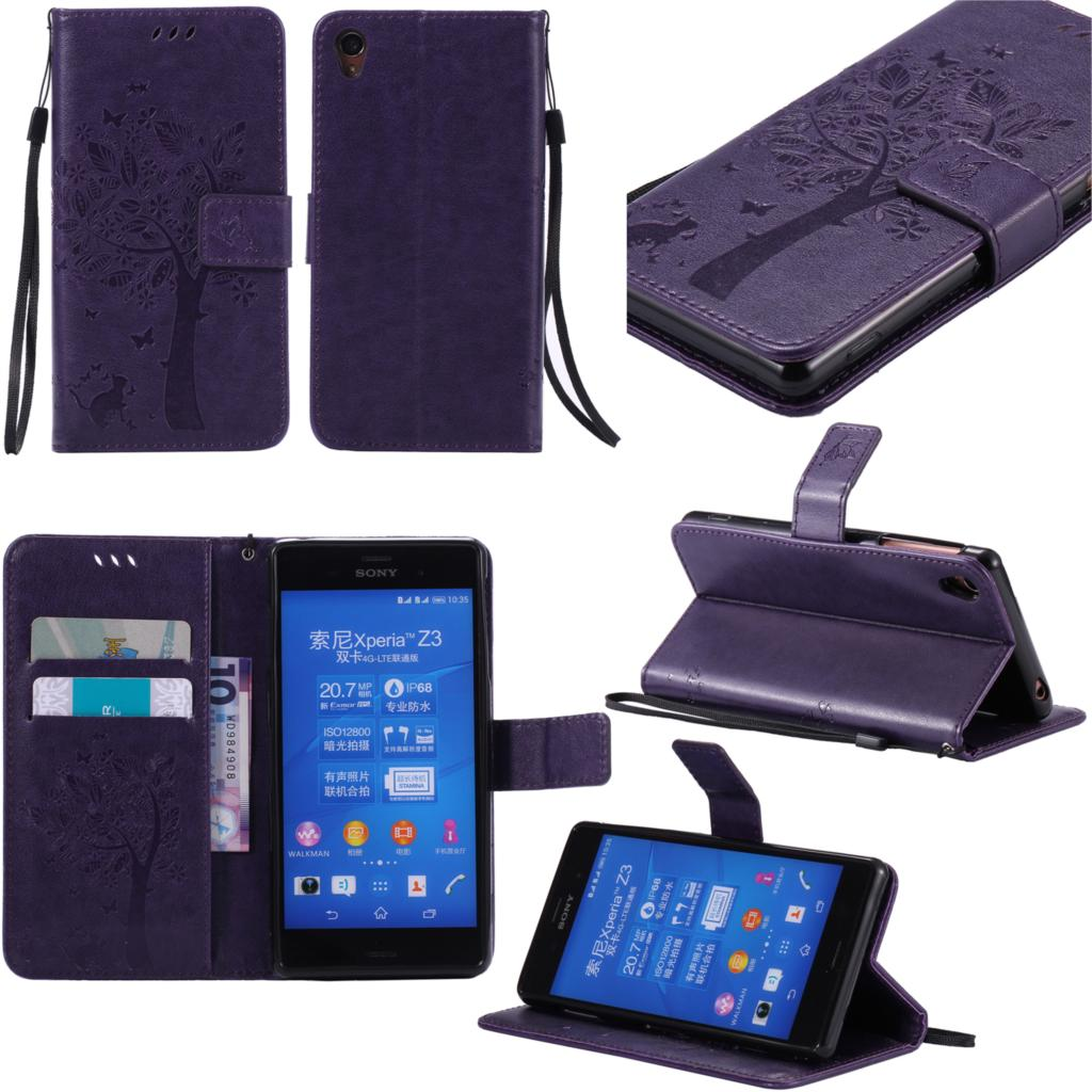 Flip <font><b>Case</b></font> for <font><b>Sony</b></font> Xperia <font><b>Z3</b></font> Z 3 <font><b>Case</b></font> Cover <font><b>Phone</b></font> leather Cover for <font><b>Sony</b></font> Xperia <font><b>Z3</b></font> <font><b>D6603</b></font> D6643 D6653 D6616 D6633 L55T L55U SOL26