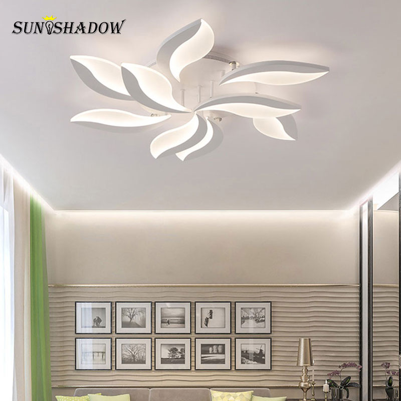 Image 3 - White Body Modern LED Ceiling Light lampara de techo For Living Room Bedroom Home Lustres Plafond Ceiling Lamp Lighting Fixtures-in Ceiling Lights from Lights & Lighting