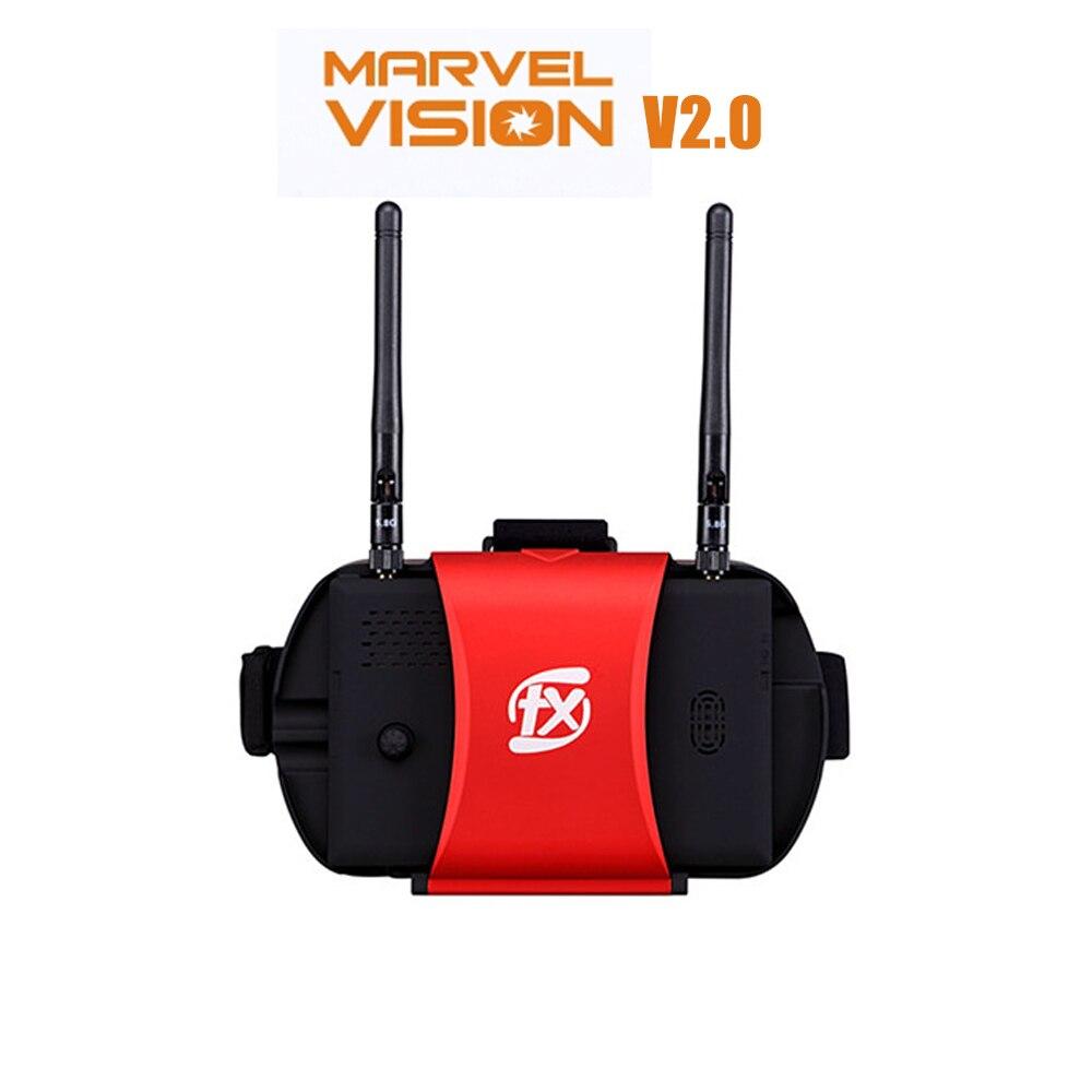 Masque FPV de diversité FXT Marvel Vision II V2 5.8 GHz W/DVR avec moniteur LCD détachable de 5 pouces pour Drone de course FPV avion RC
