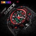 SKMEI New S Shock Men Sports Watches Big Dial Quartz Digital Watch For Men Luxury Brand LED Military Waterproof Men Wristwatches