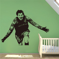 Lionel Messi Wall Decal Football Soccer Player Sticker Decal Sport Wall Art Design Housewares Living Room