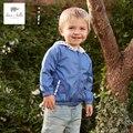 DB4840 dave bella spring baby boys  printed  hoodies spring  sweatshirt children coat blue hoodies