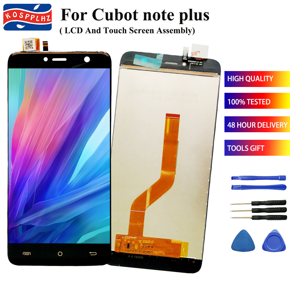 For Cubot Note Plus LCD Display And Touch Screen Digitizer Assembly For 5.2 Inch NotePlus LCD Glass Panel Spare Parts+tools