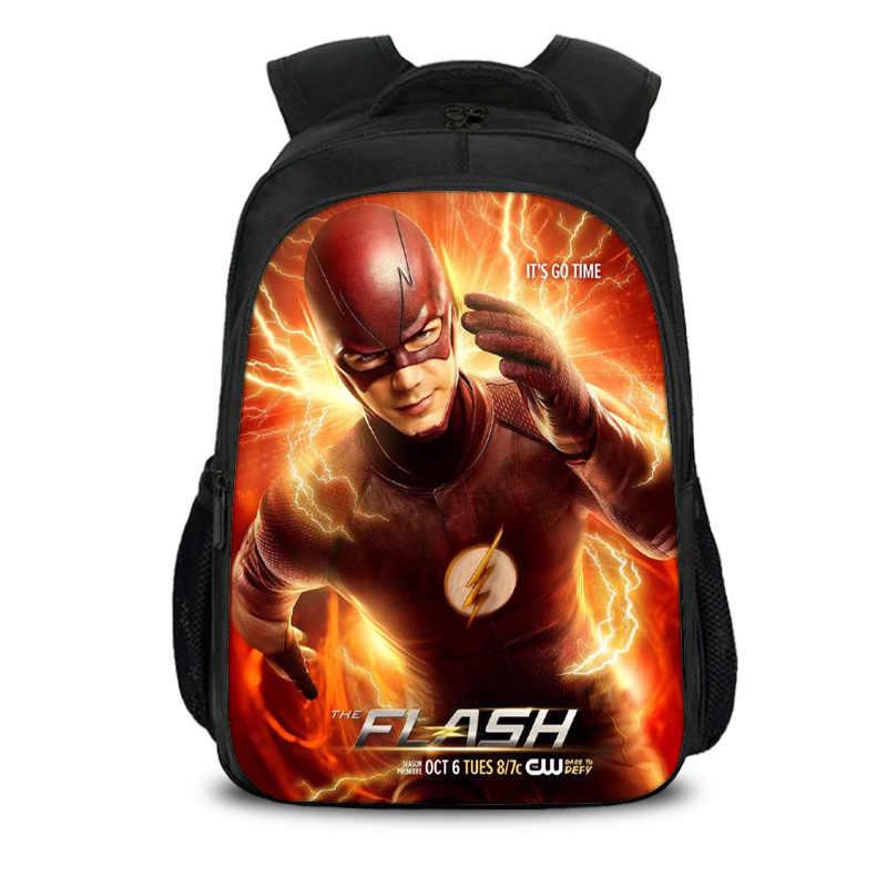 Комиксы герой флэш-рюкзак детей школьные сумки ежедневно студенческий ноутбук рюкзак подростки мальчики девочки Лига Справедливости школьные сумки
