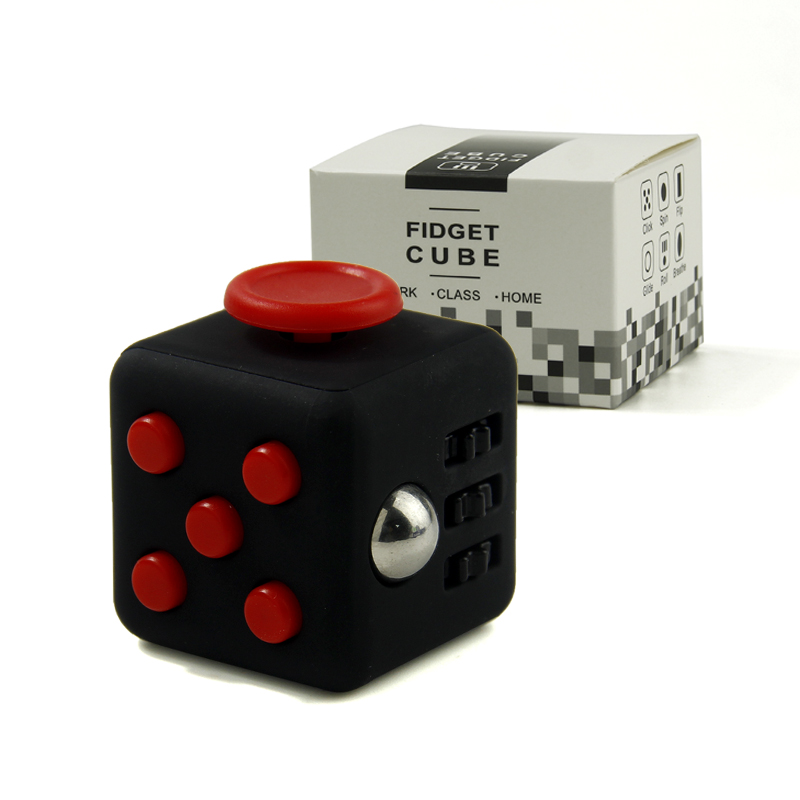 11 Colour Mini Fidget Cube Toy Vinyl Desk Finger Toys Squeeze Fun Stress Reliever 3.3cm Hand Spinner Antistress Cubo With Box 9 types squeeze stress reliever fidget cube pc vinyl fidgetcube game toy kickstarter fidget toys for girl boys christmas gifts