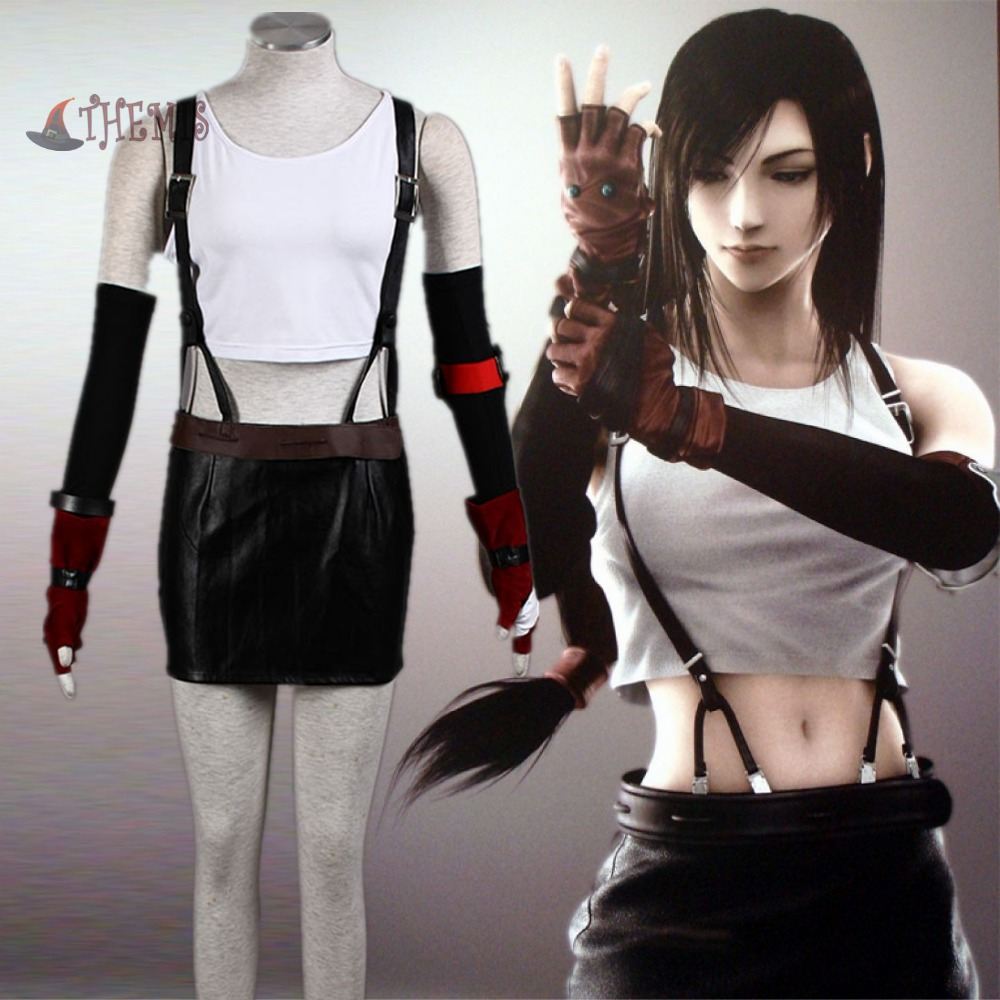 Athemis real <font><b>doll</b></font> clothes <font><b>sex</b></font> <font><b>doll</b></font> costume same as Final Fantasy VII Tifa <font><b>anime</b></font> <font><b>cosplay</b></font> costume high quality without stain image