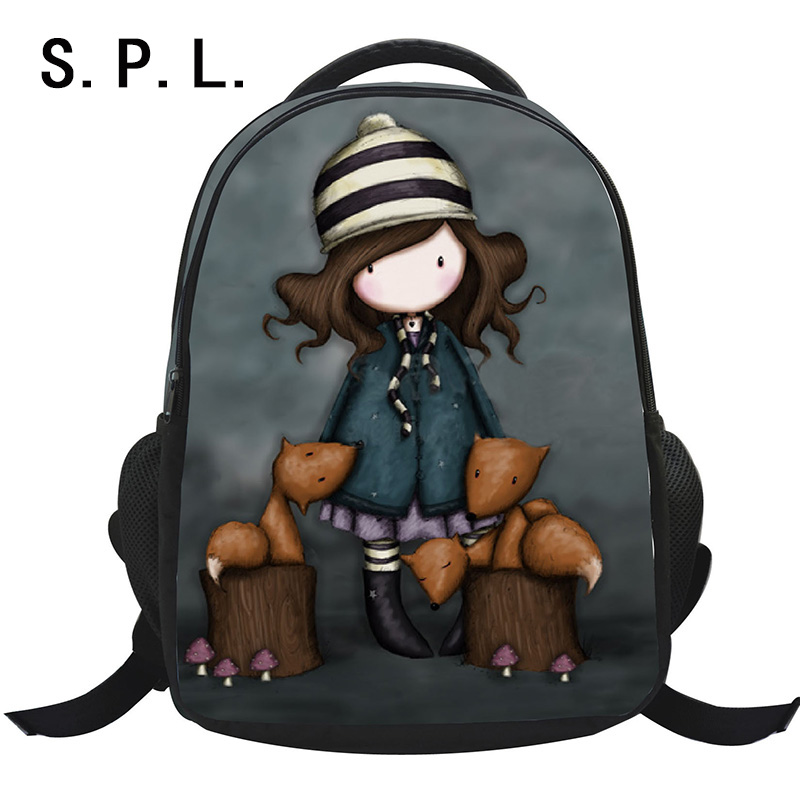 S P L hot sale school bag backpack polyester lovely cartoon casual girl student bag mochila