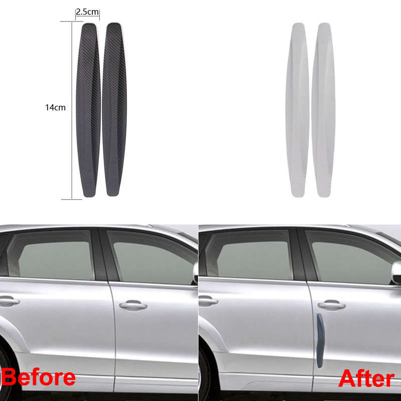 4Pcs//Set Warning Mark Reflective Tape Exterior  Car Door Accessory Orange #ur