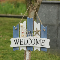 22*26 cm 2016 Mediterranean Style Door Sign Plate WELCOME Home Stores or Coffee Shop Decorative Dlate swing decoration Doorplate