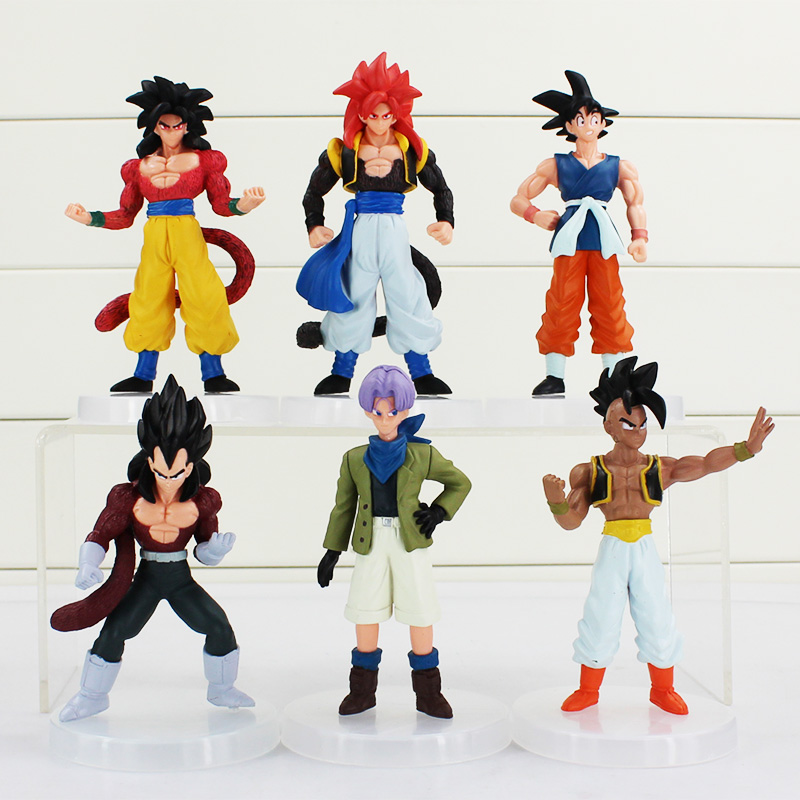 Cartoon Dragon Ball Z PVC Action Figure Goku Son Toys Figures Dolls 6Pcs/set 12CM Free Shipping free shipping hello kitty toys kitty cat fruit style pvc action figure model toys dolls 12pcs set christmas gifts ktfg010