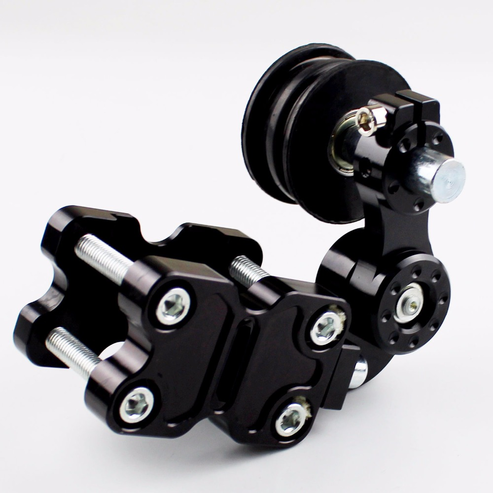 Universal Motorcycle Aluminum Rubber Chain Tensioner ATV Chopper Bike for CBR1000XX CBR954RR NC700 VTX1300 RVF NC30 NC35 citall adjustable aluminum chain tensioner bolt on roller motocross for motorcycle dirt street bike atvs banshee chopper