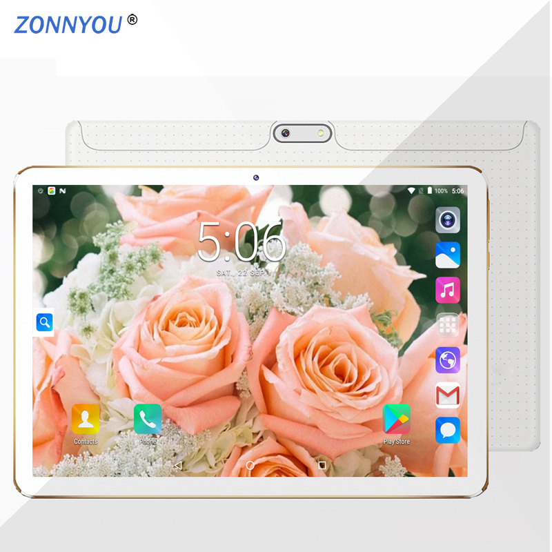 Russian Ships 10.1 Inch Tablet PC Android 7.0 Google Play 3G Phone Call 4GB 64GB Octa Core Dual SIM GPS OTG Tablet +Moscow