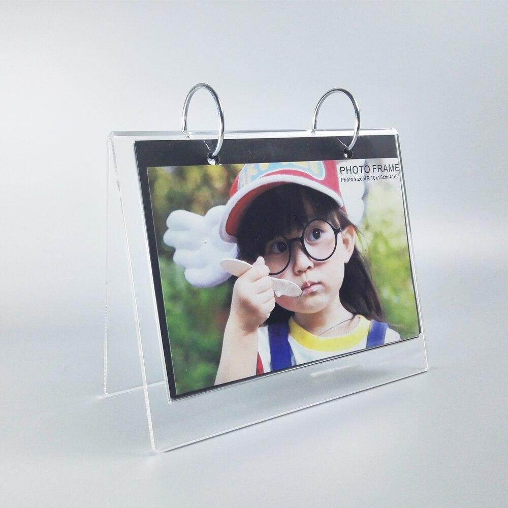 5 units/pack) Fashion Desktop Clear Acrylic Lucite Calendar Holder ...