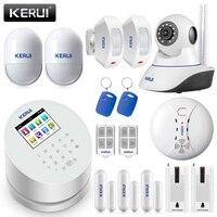 KERUI W2 приложение управление охранная сигнализация костюм WiFi GSM PSTN домашняя безопасность умный беспроводной 2,4 дюймов TFT цветной дисплей Alarme