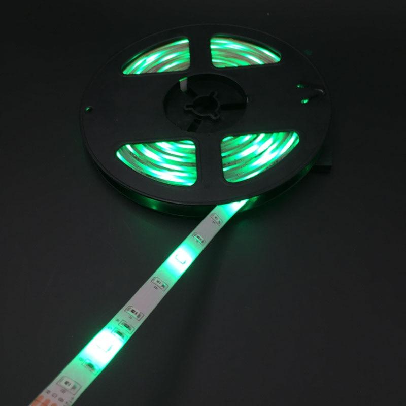 Waterproof 3528 RGB Led Strip LED Light 60led/m 5M 300 LED SMD DC 12V+ 2A Power Supply + IR Remote Control
