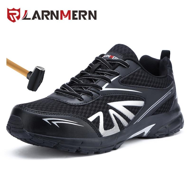 LARNMERN mannen Veiligheidsschoenen Werkschoenen Stalen Neus Anti verstuikingen Laarzen Lichtgewicht Ademend Sneaker Casual Footwear 39-in Werk en veiligheidslaarzen van Schoenen op  Groep 1