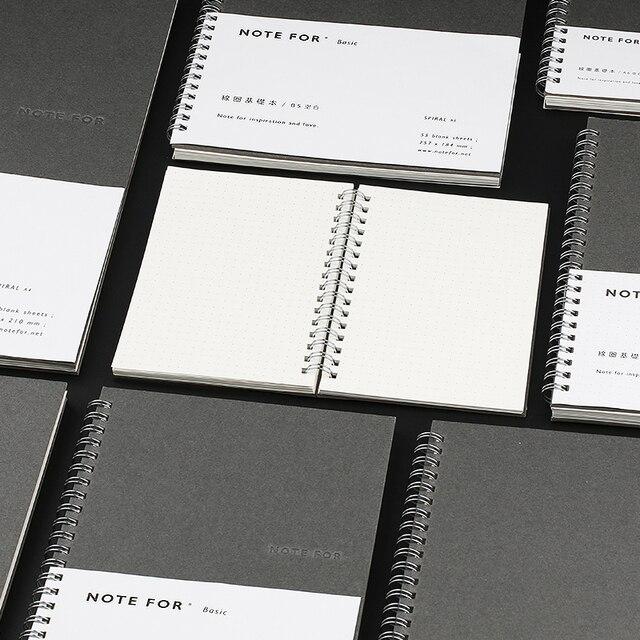 a4 b5 a5 a6 coil notebook blank dot refills notepad sketchbook for