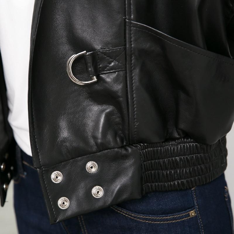 Noir Vestes Équipée Fermeture Mignon Femmes Survêtement Bourgogne Coloré Élégantes En Dames Éclair Ligne Lumière Cuir Occasionnel Meilleur Black Pour D'agneau TqrcIqZ