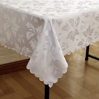 All Size Leaves Jacquard Tablecloth Tableclothes Rectangular Round Wedding Party Hotel Decorations