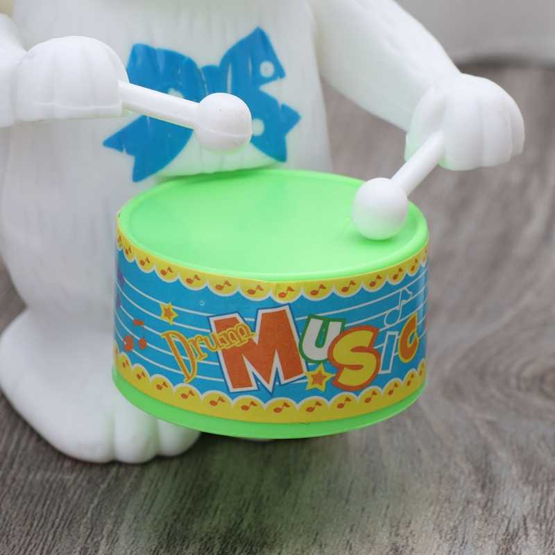 2018 Новый Кролик барабанная игрушка Заводной развивающая игрушка подарок для ребенка