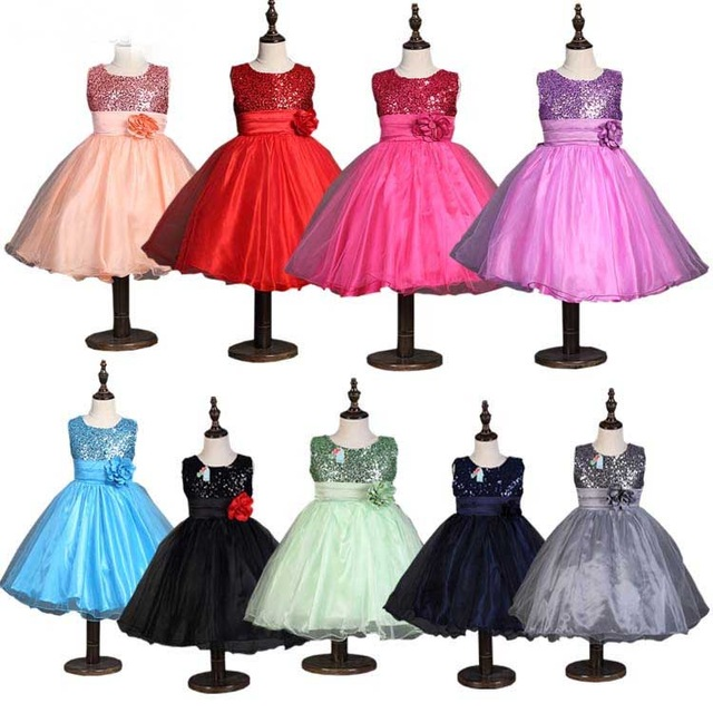Princess Sequins Tutu Flower Dress S Holiday Birthday Party Western Candy Color Retail By Kebaner In Dresses From Mother Kids On Aliexpress