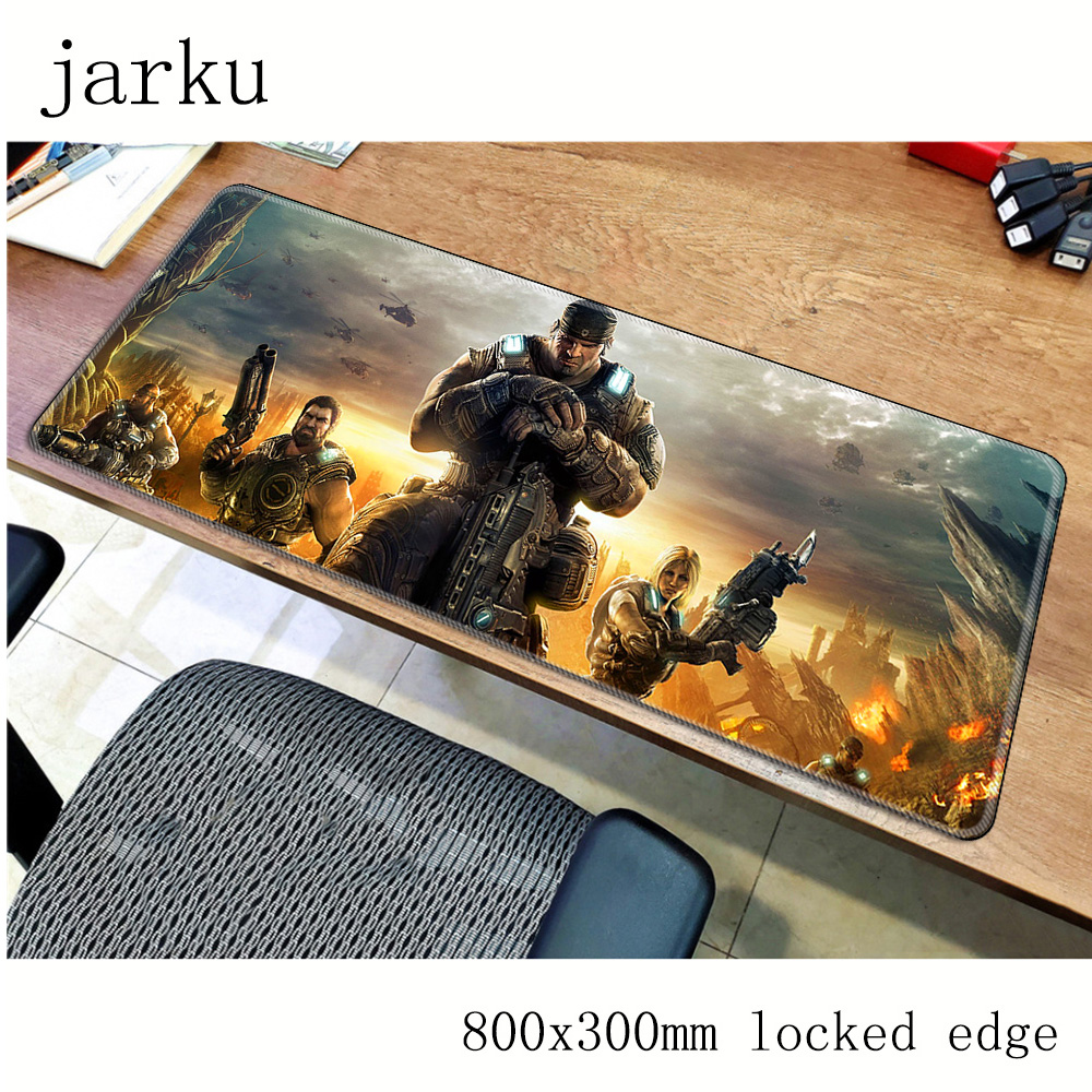 Gears Of War Mouse Pad Gamer 800x300mm Notbook Mouse Mat Large Gaming Mousepad Large Colourful Pad Mouse PC Desk Padmouse