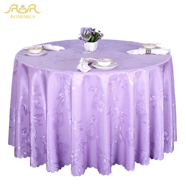 ROMORUS Luxury Round Tablecloths Wedding Home Kitchen Table Cover/Table  Line Gold/Red/