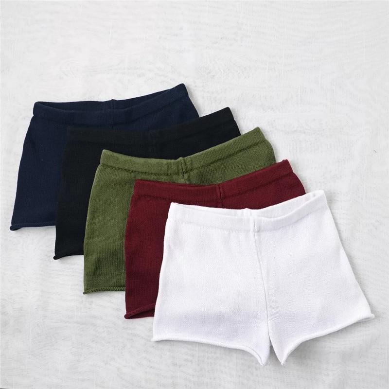 Shorts Female Summer Fashion Women elastic waist knitting fabric beach Casual hot Short Pants Comfortable Bottom