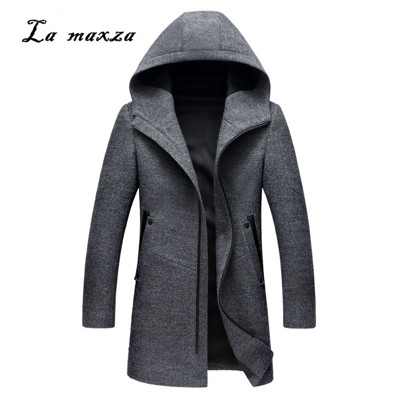 Mens Coats Dress Zippers-Pockets Plus-Size Casual Winter Fashion Smart New-Arrivals