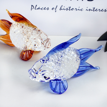 Handmade Crystal Goldfish Figurine Model Miniature Animal Crystal Crystal Glass Ornament Home Decor Gift Kids Room Decoration 1