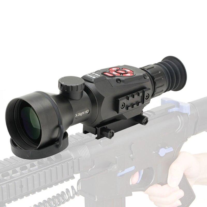HD táctico 5-20X Digital día y visión nocturna alcance a prueba de golpes cámara de visión infrarroja óptica para caza al aire libre
