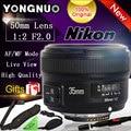 Подарок YONGNUO 35 мм 1:2 F2.0 AF/MF Объектив для Nikon F горе DSLR Камеры Широкоугольный AF/MF Фиксированной/Премьер-Анто Фокус YN35mm F2N объектив
