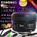 Yongnuo 35mm 1:2 regalo f2.0 af/mf lente para nikon f monte DSLR Cámaras de Gran Angular AF/MF Fijo/Anto Prime Focus YN35mm F2N lente