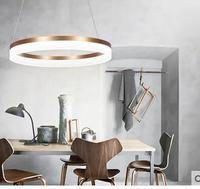 Творческая личность Ресторан подвесные светильники led современный минималистичный Кольцо Кабинет лампа мастер спальня гостиная zzp183272