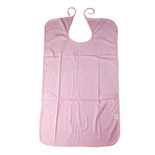 Waterproof Washable Adult Disability Bib Mealtime Cloth Protector Apron Pink(China)