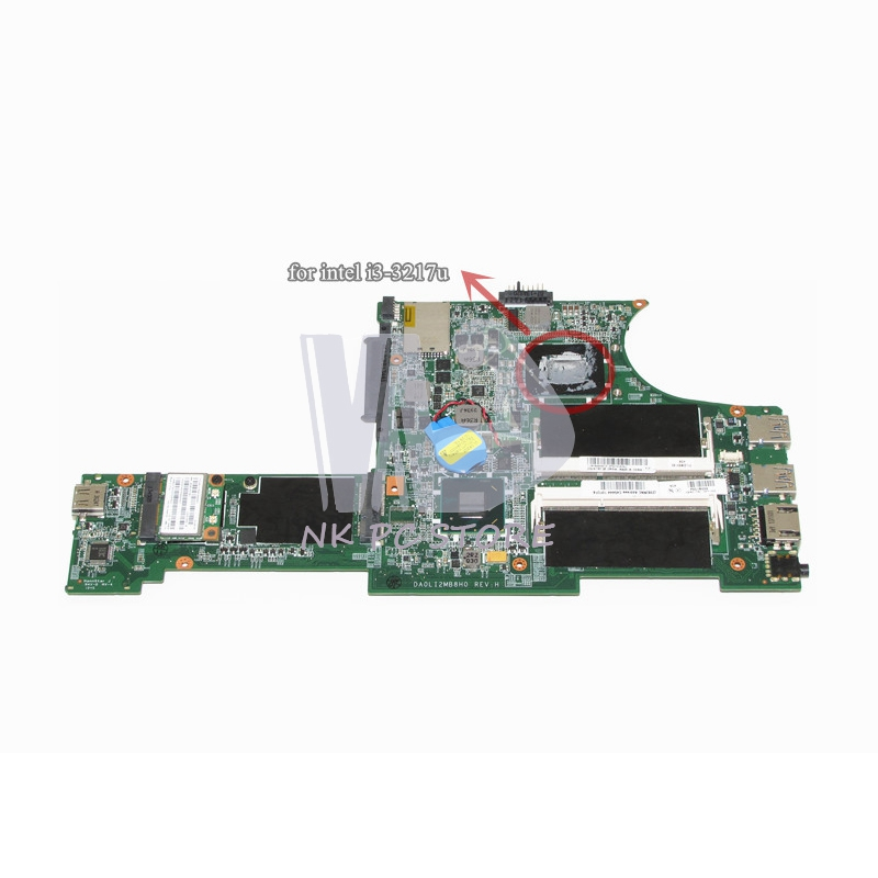 NOKOTION 04Y1000 Notebook PC Main Board For Lenovo ThinkPad Edge E130 Motherboard System Board i3-3217U HM77 DDR3 nokotion notebook pc motherboard for lenovo ideapad g500 main board system board viwgpgr la 9632p hm76 ddr3