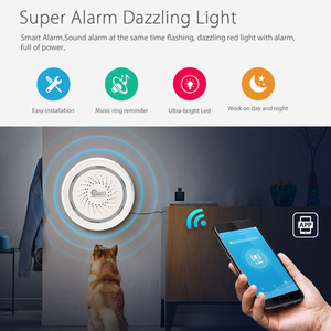 Image 3 - NEO Coolcam Wireless WiFi Siren Alarm Sensor for Home Smart Device Compatiable With Echo Google Assistant IFTTT