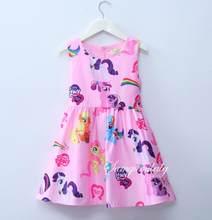 c5bb33e8a Nuevo vestido de los niños Mi poco Rainbow Girls princesa vestidos de  fiesta para niños ropa de moda Navidad desgaste del bebé
